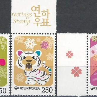 фауна Ю.Корея-2008/10 звери - символы Нового года