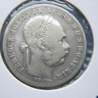 монета 1 форинт Австро-Венгрия 1884 для Венгрии серебро редкий год