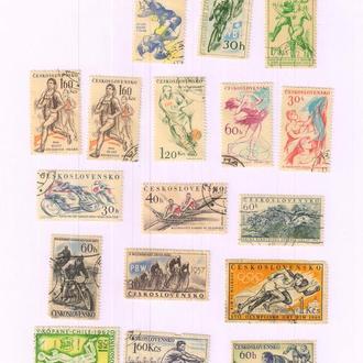 Чехословакия конец 50х-начало 60х г.г. Спорт.