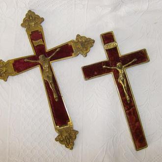 2 Стареньких  Креста.  Бронза. 19 х 26 и 12 х 21 см.
