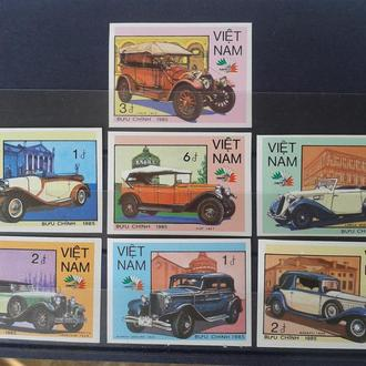Вьетнам 1985 Транспорт, Ретро Автомобили, Без/Зуб