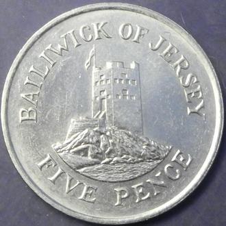 5 пенсів 1986 Джерсі рідкісна