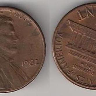 США 1 цент 1982 г.
