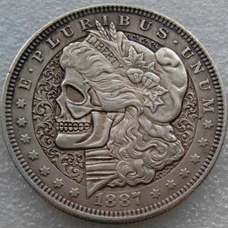 США Доллар 1887 г. Череп