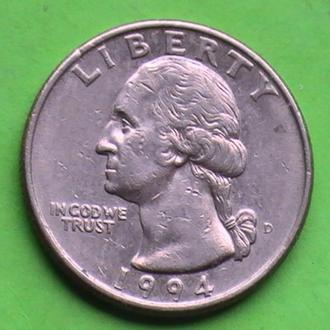25 Центов 1994 г США Квотер 25 Центів 1994 р США