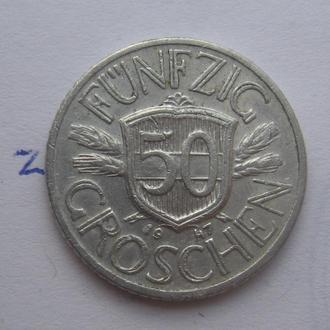 АВСТРИЯ 50 грошей 1947 года.