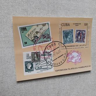 Марки Куба блок почта