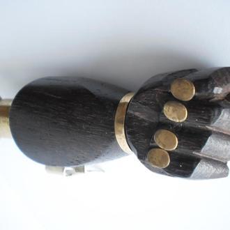 стара Німеччина відкривачка открывачка дуля фіга кукіш кукиш колекційна рідкісна дерево + метал