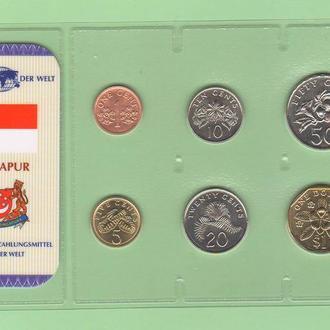 Набор монет СИНГАПУР блистер запайка пластик