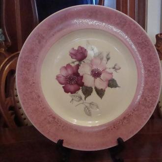 Антикварная коллекционная тарелка Цветы 25,5 см . Фарфор Германия. № 1061