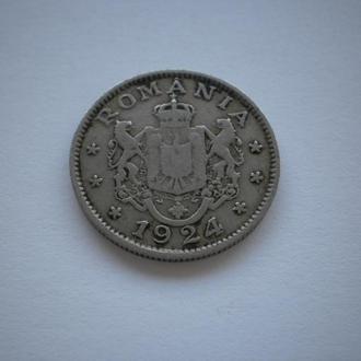 монеті майже 100 років Румунія Romania Румыния 1 лей 1 LEU 1924 рік 1924 год BUN PENTRU красивий ста