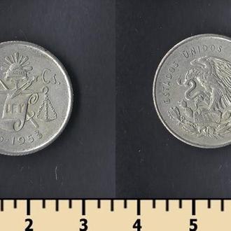 Мексика 25 сентаво 1953