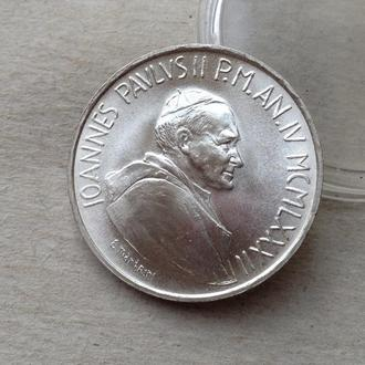 Ватикан 1000 лир 1982 серебро Unc СОХРАН ШТЕМПЕЛЬ