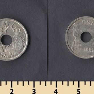 Испания 25 песет 1998