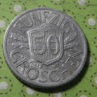 Австрия 1947 год монета 50 грош !