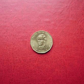 Доминиканская 1 песо 2002