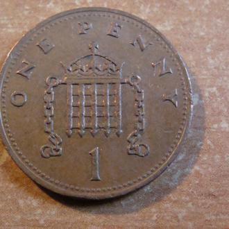 Великобритания 1 пенни 1989