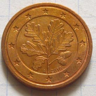 Германия_ 2 евро цента 2010 А оригинал
