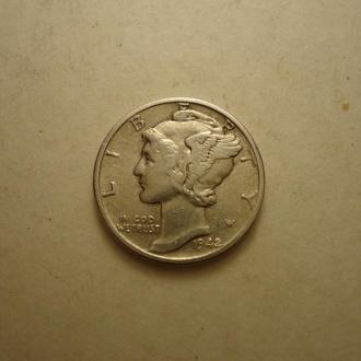 1 дайм 1942 года США