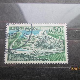 Марка Франция 1962г гаш