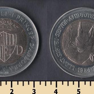 Андорра 2 динера 1984