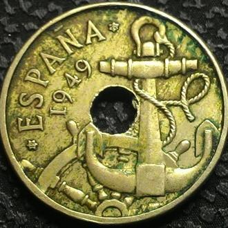 Испания 50 сантимов 1949 год