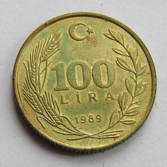Турция 100 лир 1989 (КМ#988)