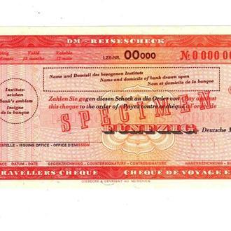 Дорожный Чек Германия. ФРГ 50 доич марок Образец