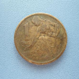 1 крона Чехословакия 1977
