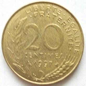 Франция 20 сантимов, 1997