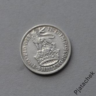 Великобритания 1 шиллинг 1936 серебро  №2