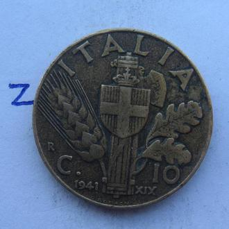 ИТАЛИЯ 10 чентезимо 1941 г.