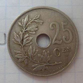 БЕЛЬГИЯ 25 сантимов 1926 г.