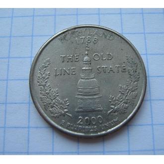 МЕРИЛЕНД 25 ЦЕНТ 2000 США