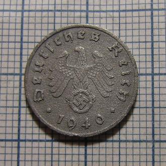 Третий Рейх, 1 рейхспфенниг 1940 г (А)