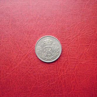 Дания 25 эре 1948. Редкий год