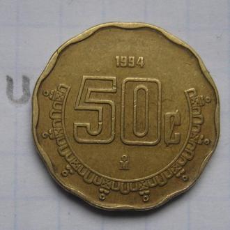 МЕКСИКА 50 сентаво 1994 г.