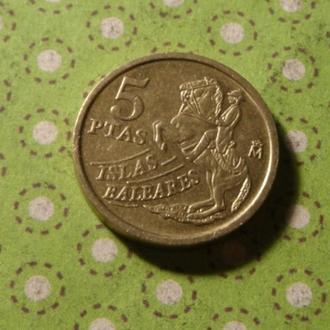 Испания 1997 год монета 5 песет !