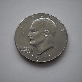 Америка монета США 1 долар 1977 рік 1 доллар 1977 год літера D Ейзенхауер Эйзенхауэр мон.двір Денвер