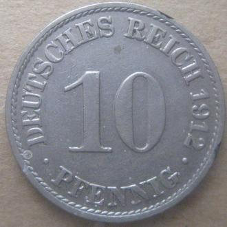 Германия 10 пфеннигов 1912 год (A)
