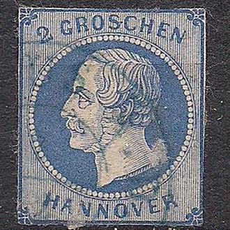 Немецкие земли, Hannover, 1859 г., марка № 15, тип a