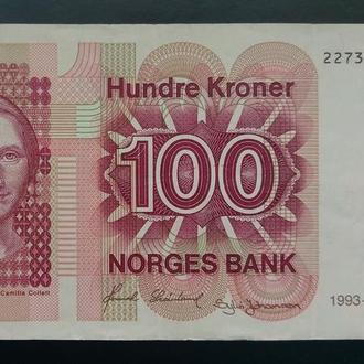 Норвегия 100 крон 1983 , отличное состояние