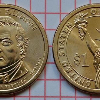 1 доллар 13-й президент США Миллард Филлмор 2010 г