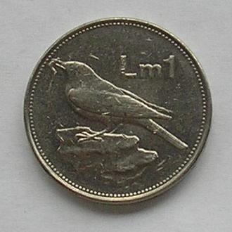 Мальта 1 лира фунт 1995 птичка