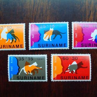 Суринам.1978г. Фауна. Кошки. MNH