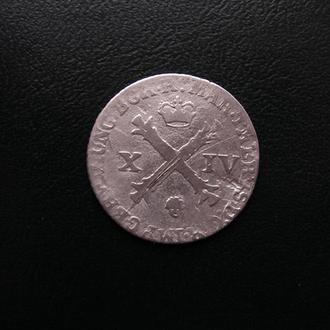 Австрийские Нидерланды, Мария Терезия, 14 лиардов 1761 г. (знак - голова) Серебро! Редкая монета!!!