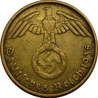 Німеччина 5 Pfennig 1938 D