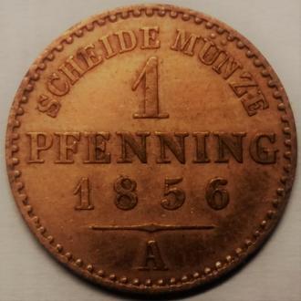 Пруссия, 1 пфеннинг 1856 год СОСТОЯНИЕ!!!!
