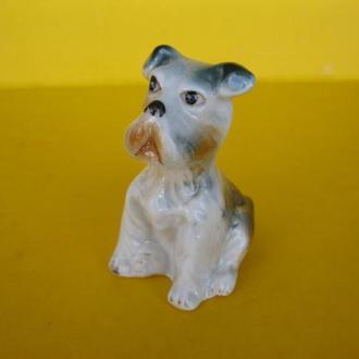 Коллекционная старинная скульптура Собака,Собачка!