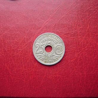 Франция 25 сантимов 1923
